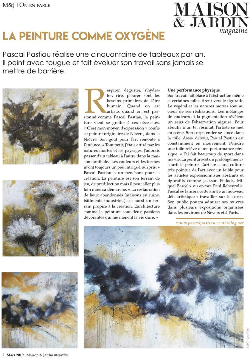 Article Pascal pastiau dans le magazine maison & jardin